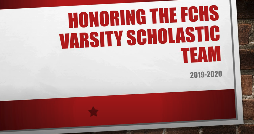 2020 FCHS Scholastic Team Awards
