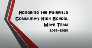 2020 FCHS Math Team Awards