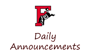FCHS Daily Announcements
